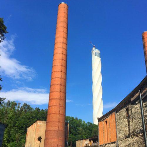 Kraftwerk Rottweil und thyssenkrupp Testturm