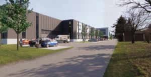 Visualisierung vom Neubau des ENRW-Gebäudes
