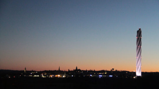 Skyline von rottweil in der Abenddämmerung